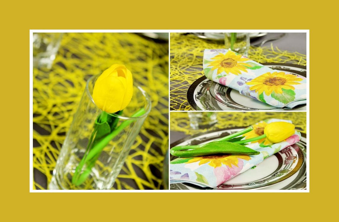Blumendeko im Glas