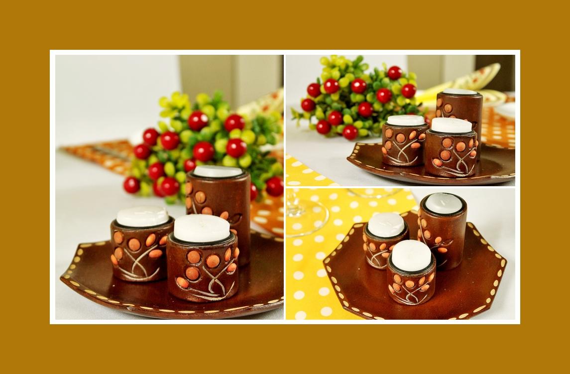 Tischdeko Kerzenhalter