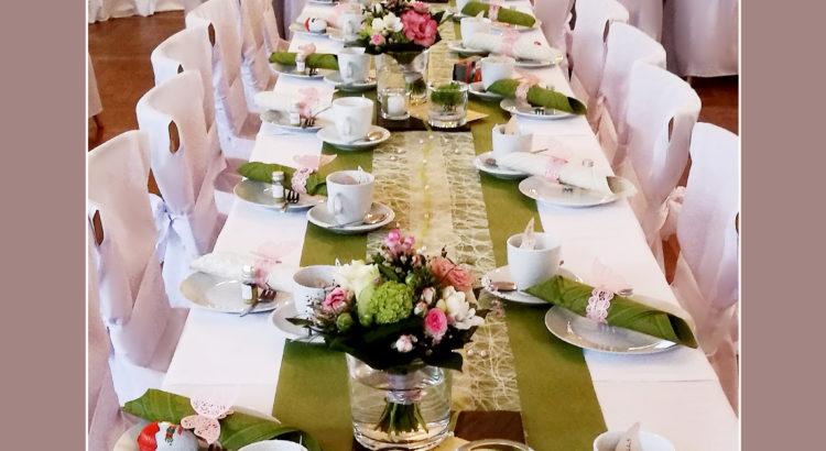 Hochzeitsdekoration grün