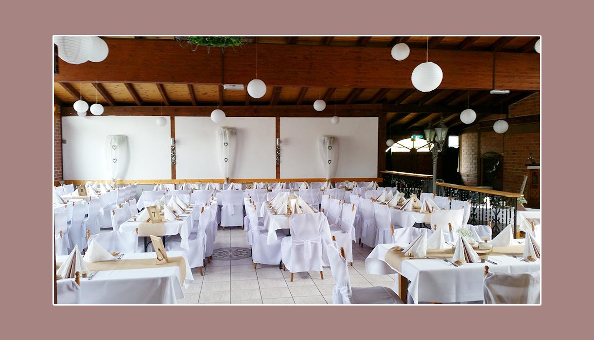 Deko Hochzeit Weiß im Landhaus Siebe Hattingen Hagen Essen
