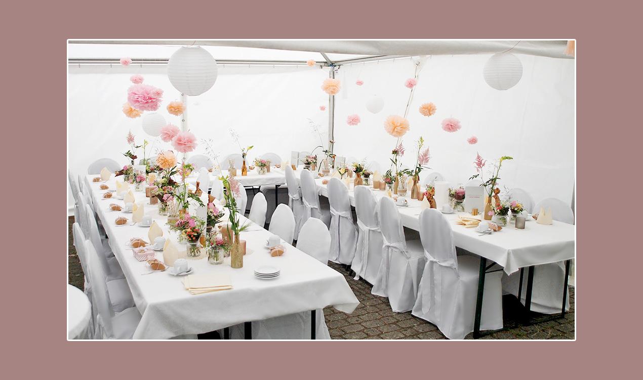 Tischdeko-Hochzeitszelt